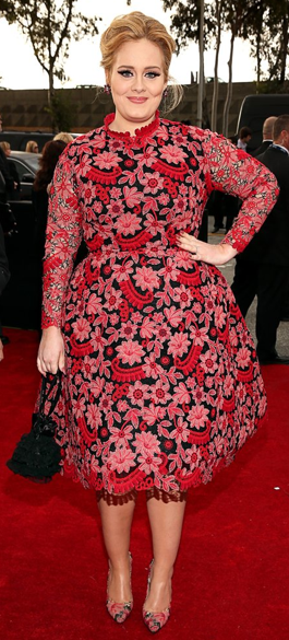 A Frumpy Adele at the 2013 Grammys