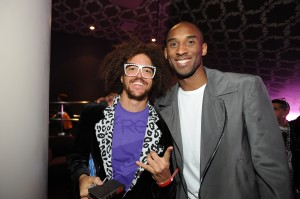 Kobe and Redfoo in La Freak at Lakers Casino Night presented by OneWest Bank and Pechanga Resort & Casino