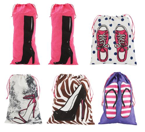 Jill Martin Set of Six Print Shoe Bag