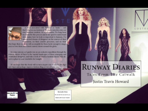 New Book 'Runway Diaries - Tales From The Catwalk' by Justin Travis Howard